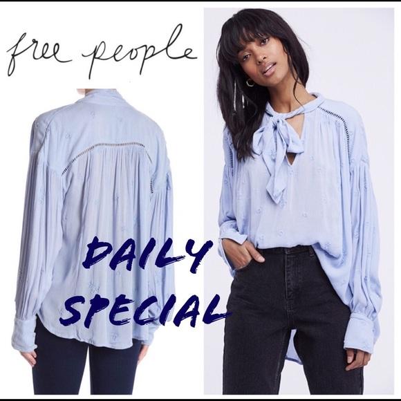 38043b8aa20c86 Free People Tops   Sale Nwt Wishful Moments Tunic In Blue   Poshmark